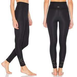 Beyond Yoga Knit Down High Waist Black Leggings